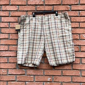 NWT Calvin Klein New Khaki Plaid Shorts